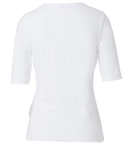 Basler | White Jersey T-shirt With Rhinestones | Lyst