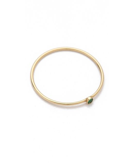 Jennifer Meyer | Green 18k Gold Thin Emerald Ring | Lyst
