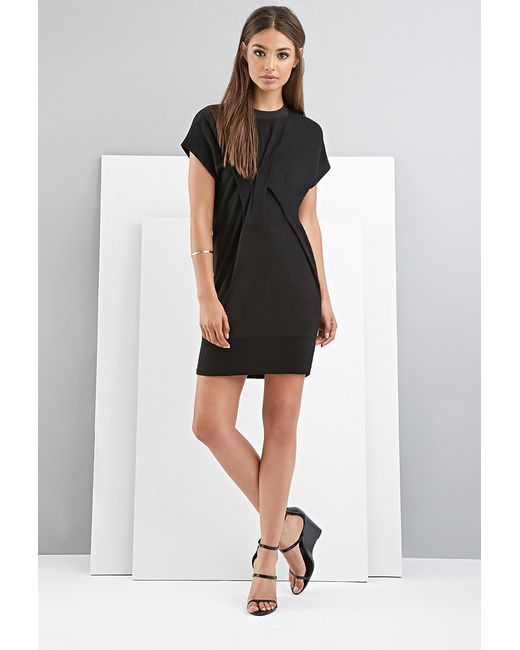 Forever 21 Foxiedox Pintucked Dress in Black | Lyst