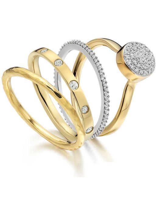 Monica Vinader | Metallic Ava Button Ring | Lyst