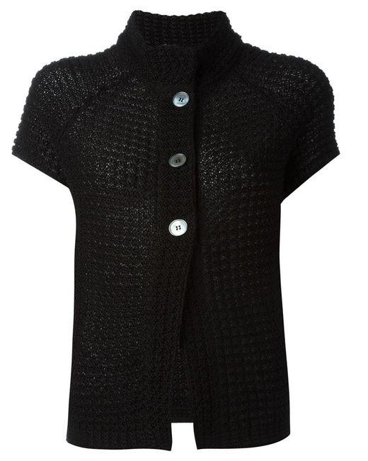 Eleventy Short Sleeve Knit Jacket in Multicolor (BLACK) Lyst