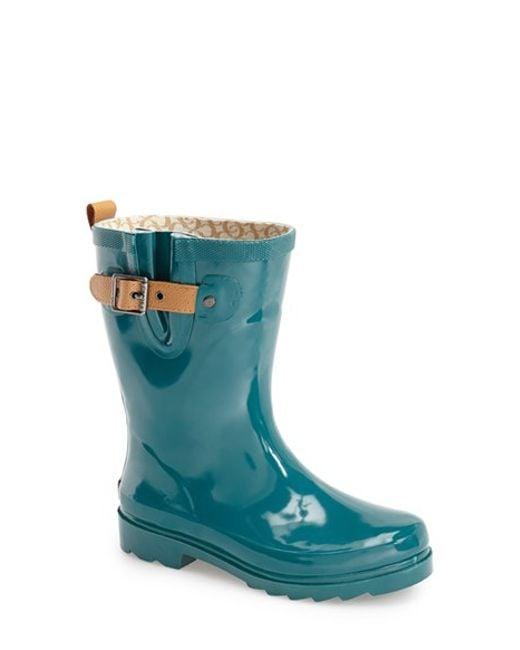 Chooka | Green 'top Solid Mid Height' Rain Boot | Lyst