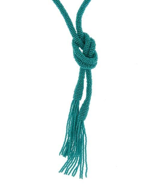 Oscar de la Renta | Blue Long Tassel Necklace | Lyst
