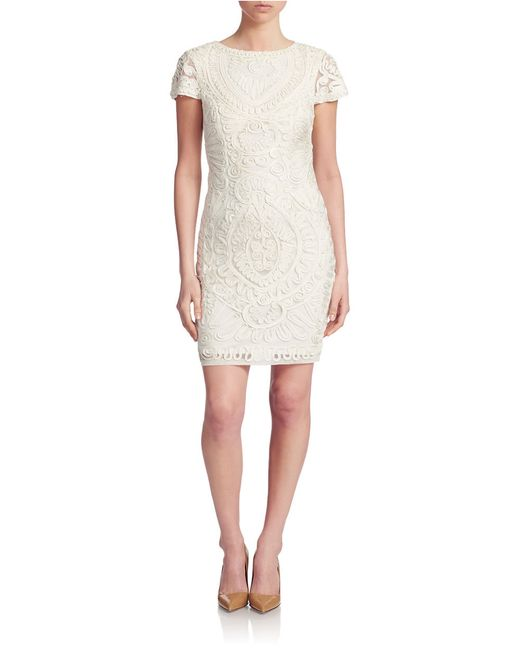 JS Collections   White Lace Sheath Dress   Lyst