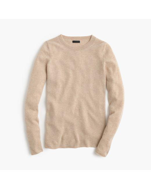 J.Crew | Natural Italian Cashmere Long-sleeve T-shirt | Lyst