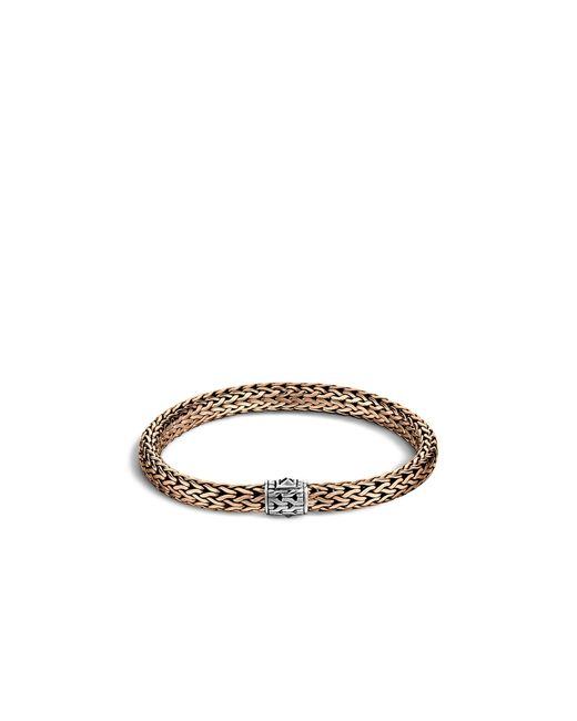 John Hardy | Metallic Men's Classic Chain Silver And Bronze Medium Chain Bracelet | Lyst