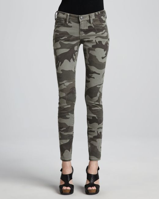 True Religion | Green Casey Stretch Camo Low-rise Super Skinny Pants | Lyst