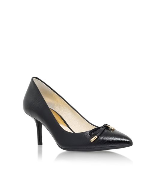 Michael Kors | Black Nancy Mid Heel Court Shoes | Lyst