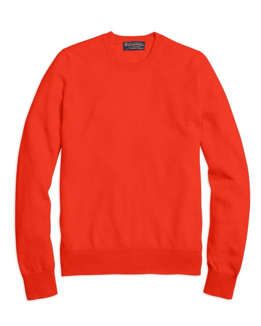 Brooks Brothers | Pink Cashmere Crewneck Sweater for Men | Lyst