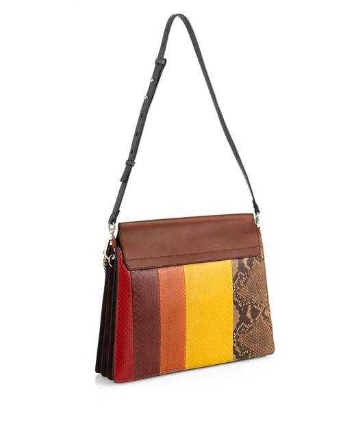 chloe fake handbags - chloe faye python leather satchel, the best handbags
