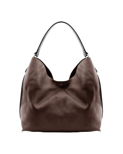 Linea Pelle | Brown Hunter Leather Hobo | Lyst
