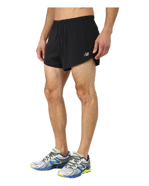 "New Balance | Black Impact 3"" Split Shorts for Men 