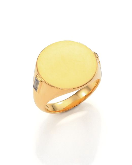Elizabeth and James | Metallic Serra 24K Gold-Plated Signet Ring | Lyst