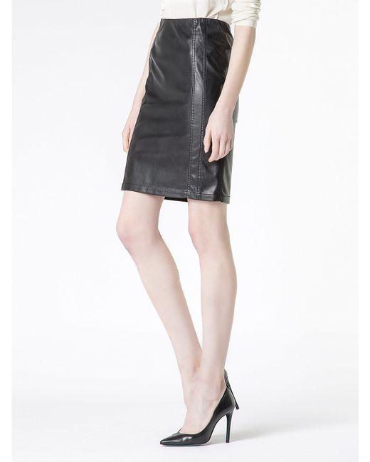 patrizia pepe knee length skirt in stretch fabric in black