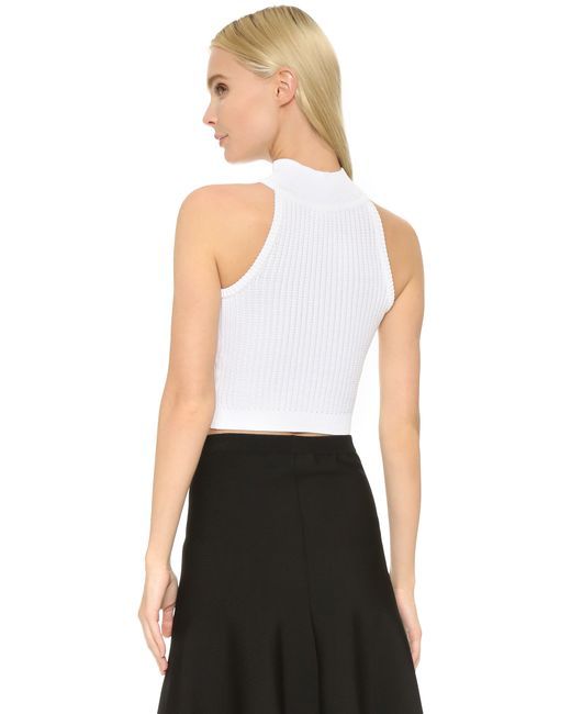 Get the party started with some good music and a fire top like the Lulus Party Vibes White Crop Top! Stretchy, ribbed knit shapes this sleeveless crop top with a V /5(42).