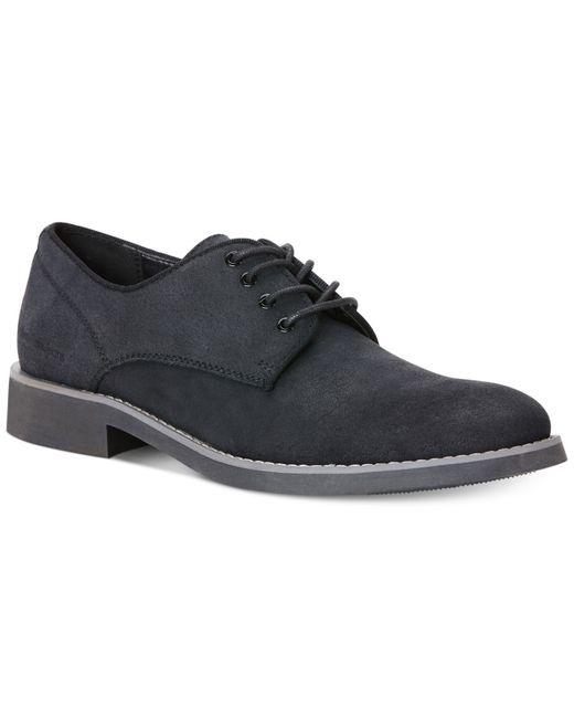 Calvin Klein Jeans Massey Suede Oxfords In Black For Men