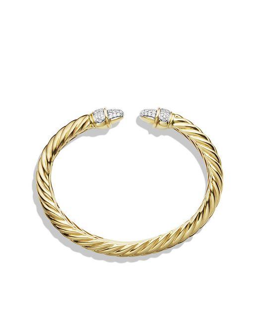 David Yurman | Yellow Waverly Bracelet With Diamonds In 18k Gold | Lyst
