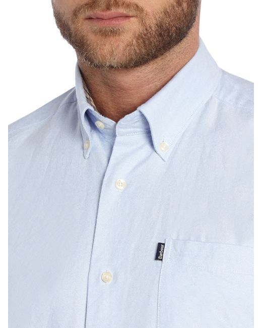 Barbour   Blue The Oxford Long Sleeve Button Down Shirt for Men   Lyst