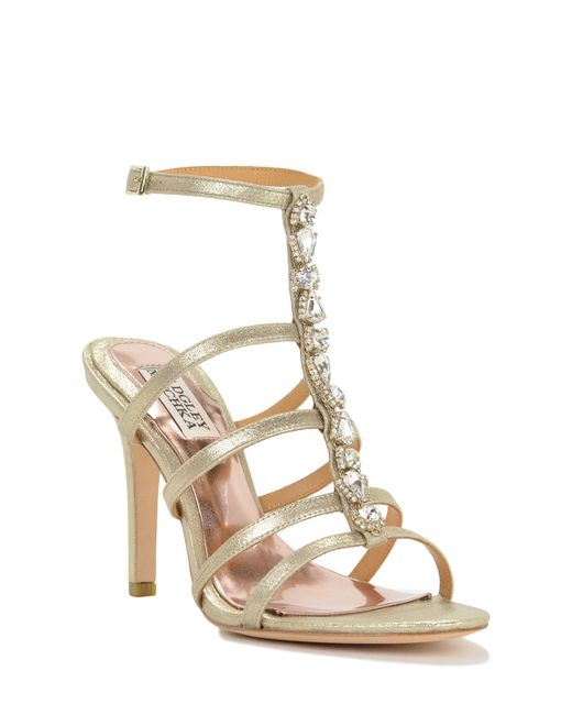 Badgley Mischka | Elect-ii Strappy Metallic Evening Shoe | Lyst