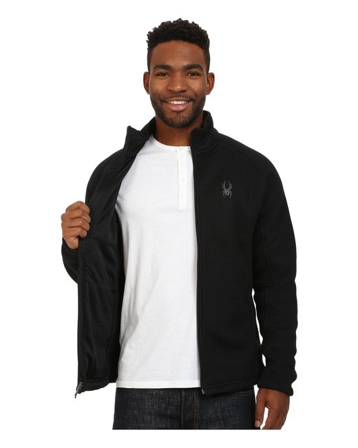 Spyder   Black Foremost Full Zip Heavy Weight Core Sweater for Men   Lyst