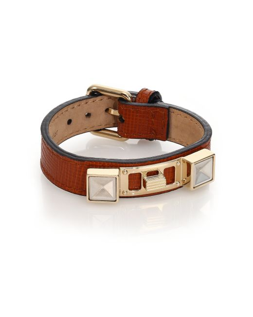 Proenza Schouler | Brown Ps11 Small Linosa Leather Bracelet | Lyst