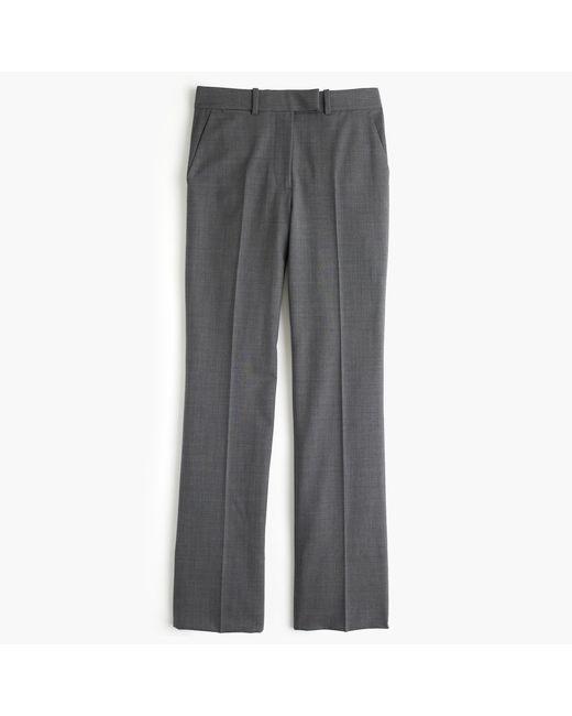 J.Crew | Gray Petite Preston Pant In Italian Stretch Wool | Lyst
