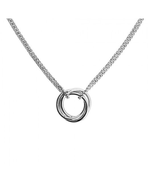 Azendi | Metallic Silver Love-knot Necklace | Lyst