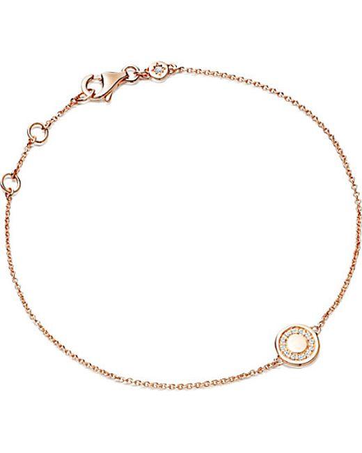 Astley Clarke | Metallic Mini Cosmos 14ct Rose Gold And Diamond Bracelet | Lyst