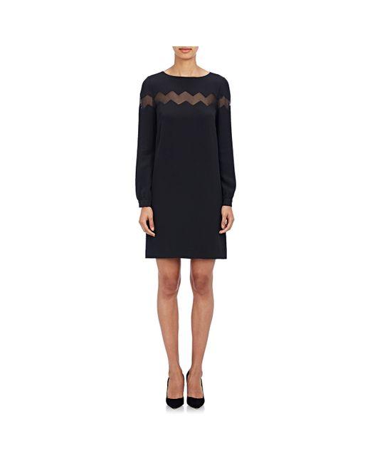 Gabriela Hearst | Black Women's Zigzag-inset Shift Dress | Lyst