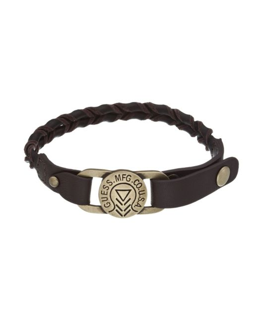 Guess | Brown Braid Leather Bracelet for Men | Lyst