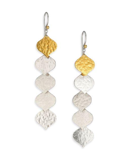 Gurhan | Metallic Clove 24k Yellow Gold & Sterling Silver Long Fringe Drop Earrings | Lyst