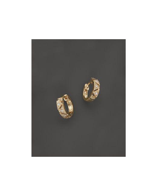 Dana Rebecca | Metallic Kathryn Lynn Huggie Hoop Earrings | Lyst