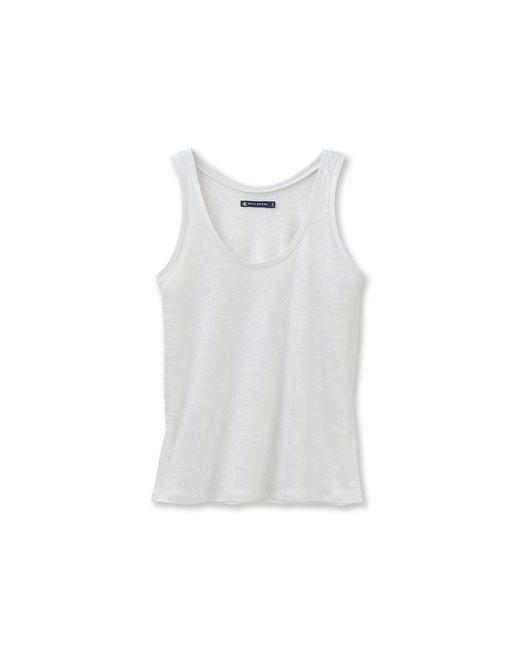 Petit Bateau | White Women's Lacquered Linen Vest Top | Lyst