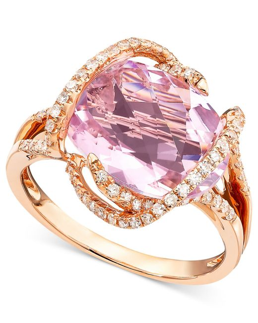 Effy Pink Sapphire And Diamond Ring
