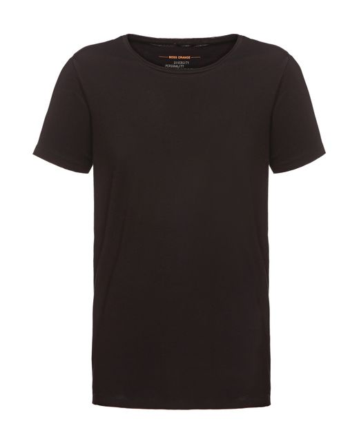 BOSS Orange | Black Regular-fit T-shirt In Pure Cotton: 'tooles' for Men | Lyst