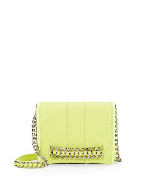 Ramy Brook | Yellow Jayme Chain-trimmed Leather Mini Convertible Crossbody | Lyst