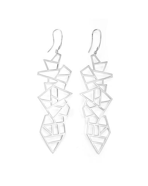 Ona Chan Jewelry | Metallic Long Multi Lattice Drop Earrings Silver | Lyst
