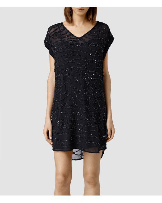 AllSaints | Blue Kayne Dress | Lyst