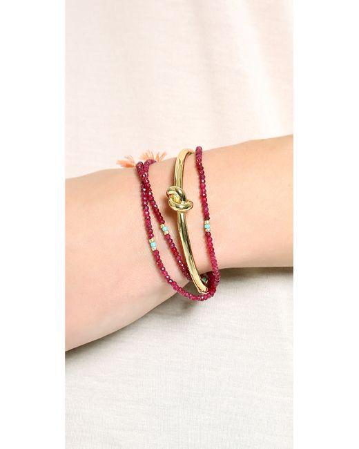 Kate Spade | Metallic Sailor's Knot Bangle Bracelet | Lyst