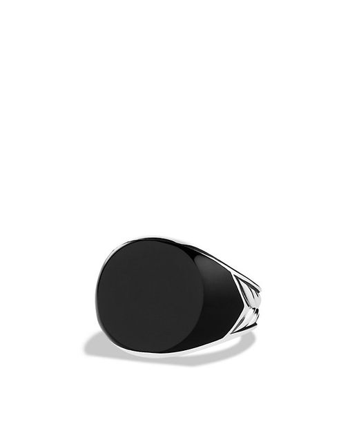 David Yurman | Chevron Signet Ring With Black Onyx for Men | Lyst