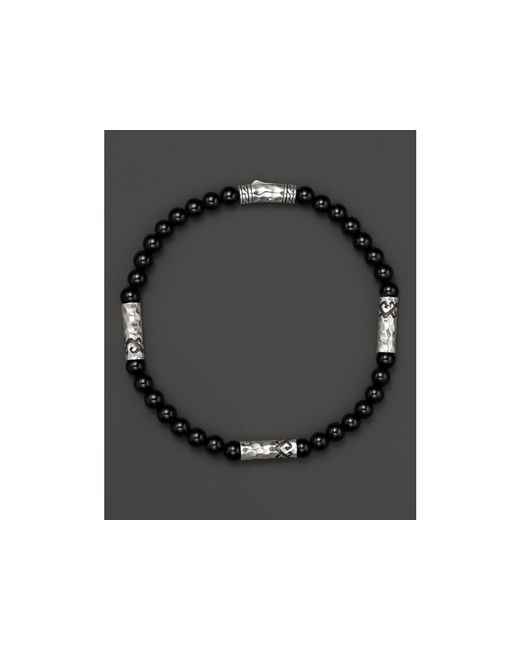 John Hardy | Men's Sterling Silver Palu Multi-station Bracelet With Black Onyx for Men | Lyst