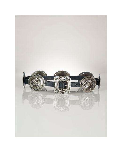 Polo Ralph Lauren | Black Leather Concho Belt | Lyst