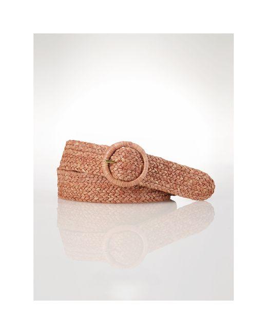 Polo Ralph Lauren | Pink Raffia Belt | Lyst