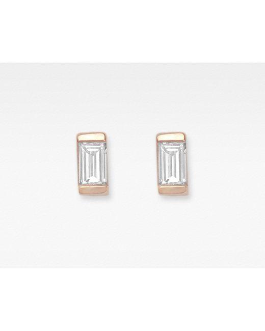 Vrai & Oro | Metallic Baguette Diamond Earrings | Lyst