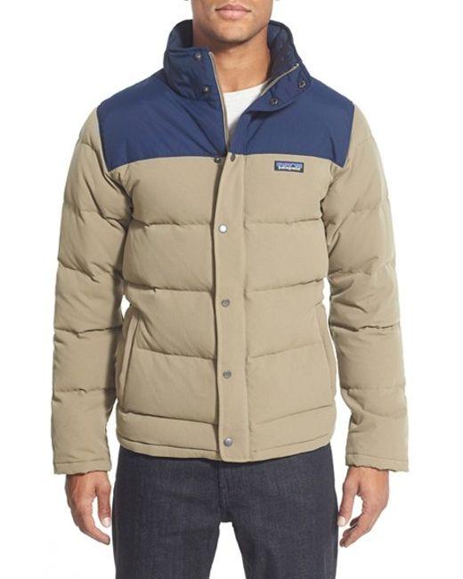 Patagonia Bivy Down Jacket In Gray For Men Ash Tan Lyst