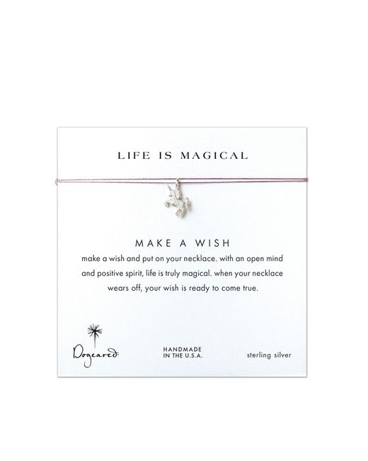 Dogeared | Metallic Sterling Silver Life Is Magical Silver Unicorn Make A Wish Necklace - Silver/lavender | Lyst