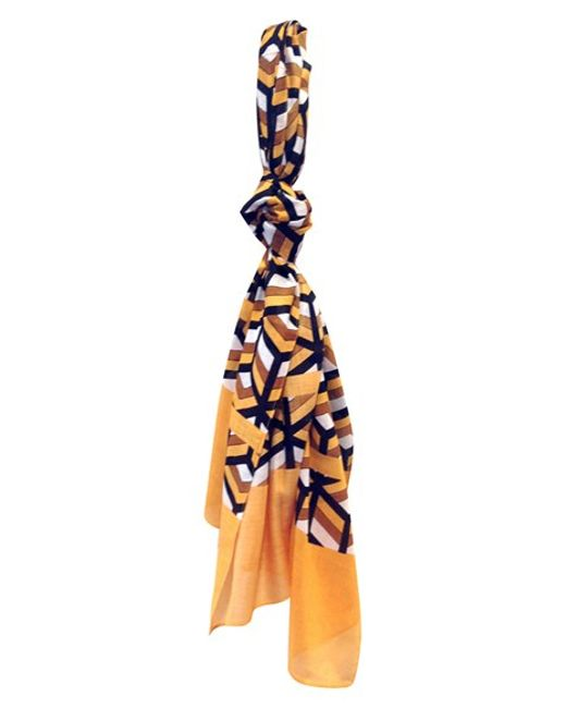 Urban Originals | Yellow Geometric Cube Print Scarf | Lyst