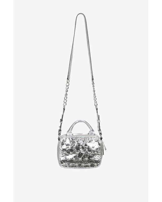 connection vinny crossbody bag in metallic lyst