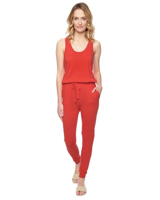 Splendid | Red Sweater Jumpsuit | Lyst