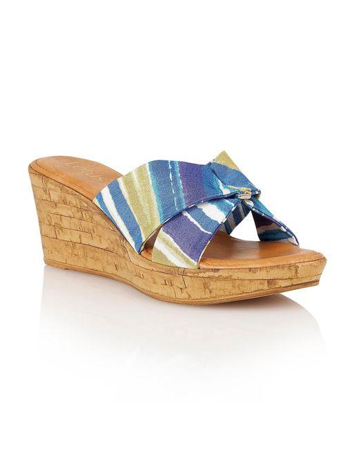 Lotus | Blue Luisa Wedge Sandals | Lyst
